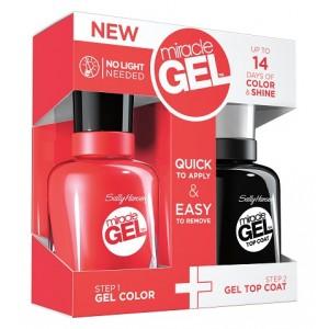 Buy Sally Hansen Miracle Gel Dual Pack - Top Coat + Redgy - Nykaa