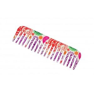 Buy FeatherFeel Printed Oriental Paisley Shampoo Comb - Nykaa
