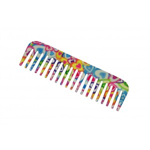 Buy FeatherFeel Printed Hearts Unlimited Shampoo Comb - Nykaa