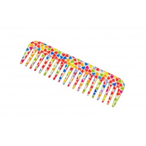 Buy FeatherFeel Printed Mini Hearts Shampoo Comb - Nykaa