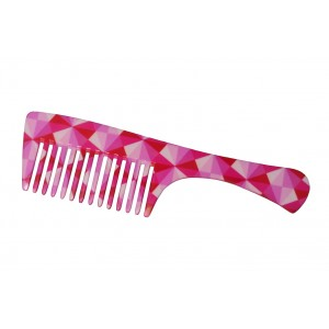 Buy FeatherFeel Printed Pink Mosaic Handle Comb - Nykaa