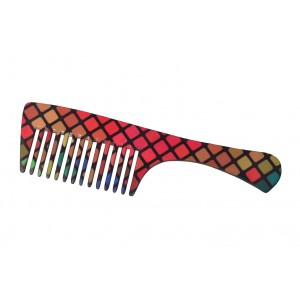 Buy FeatherFeel Printed Checkered Chic Handle Comb - Nykaa