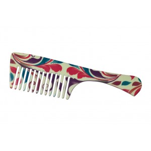 Buy FeatherFeel Printed English Spring Handle Comb - Nykaa