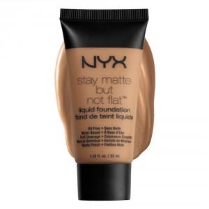 Buy NYX Stay Matte But Not Flat Liquid Foundation - Nutmeg - Nykaa
