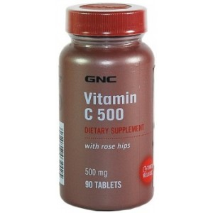 Buy Herbal GNC Vitamin C Tr Tab 500Mg (90 Tablets) - Nykaa