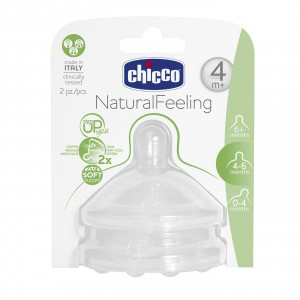 Buy Chicco Natural Feeling Adjustable Flow Teat (4M+) - 2 Pieces - Nykaa