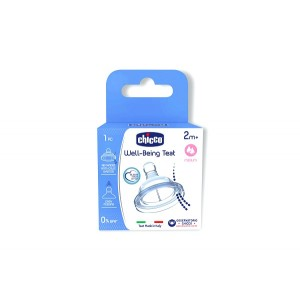Buy Chicco Well-Being Medium Flow Silicon Teat (2M+) - Nykaa