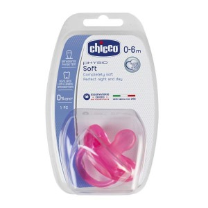 Buy Chicco Physio Soft Silicone Soother (0-6M) - Pink - Nykaa