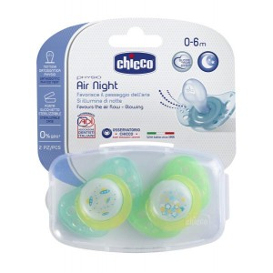Buy Chicco Physio Air Lumi Silicone Soother (0-6M) - 2 Pieces - Nykaa