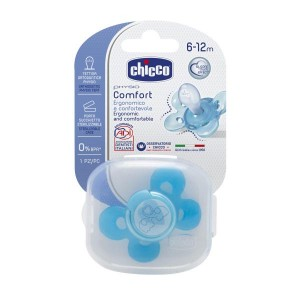Buy Chicco Physio Comfort Silicone Soother (6-12M) - Blue - Nykaa