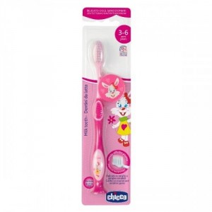 Buy Chicco Toothbrush Pink (3Yrs-6Yrs) - Nykaa