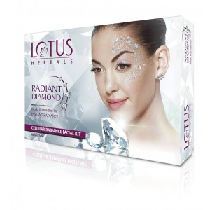 Buy Lotus Herbals Radiant Diamond Cellular Radiance 1 Facial Kit (Rs.50 Off) - Nykaa