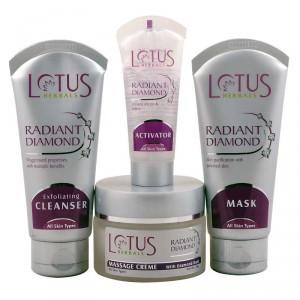 Buy Lotus Herbals Radiant Diamond Cellular Radiance Facial Kit - Nykaa
