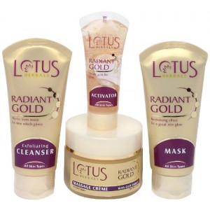 Buy Lotus Herbals Radiant Gold Cellular Glow Facial Kit - Nykaa