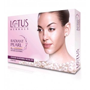 Buy Lotus Herbals Radiant Pearl Cellular Lightening 1 Facial Kit (Rs.50 Off) - Nykaa