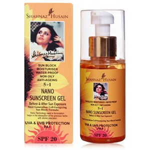 Buy Shahnaz Husain 5 in 1 Nano SunScreen Gel UVA & UVB Protection PA+ SPF 20 - Nykaa