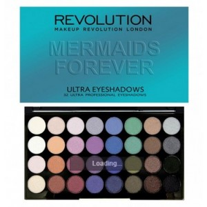 Buy Makeup Revolution Ultra 32 Shade Eyeshadow Palette Mermaids Forever - Nykaa