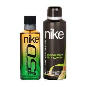 Buy Nike 150 Green Storm Gift Set For Men (EDT 150 ml + Deo 200 ml) - Nykaa