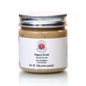Buy Harmony Aromatherapy Papaya Facial Scrub - Nykaa