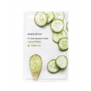 Buy Herbal Innisfree It's Real Squeeze Mask - Cucumber - Nykaa