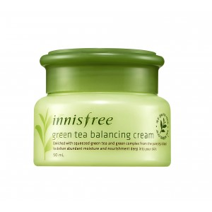 Buy Innisfree Green Tea Balancing Cream - Nykaa