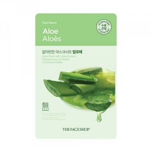 Buy The Face Shop Real Nature Aloe Face Mask - Nykaa