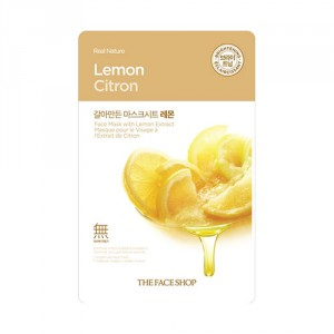 Buy The Face Shop Real Nature Lemon Face Mask - Nykaa