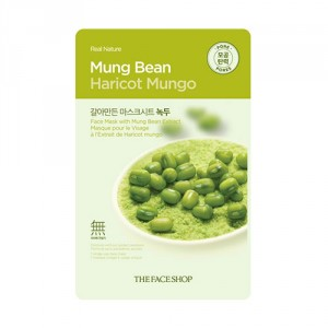 Buy Herbal The Face Shop Real Nature Mung Bean Face Mask - Nykaa