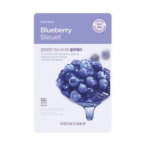 Buy The Face Shop Real Nature Blueberry Face Mask - Nykaa