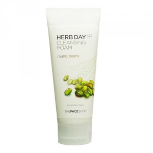 Buy The Face Shop Herb Day 365 Cleansing Foam Mungbeans - Nykaa