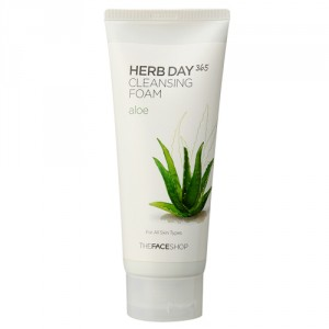 Buy Herbal The Face Shop Herb Day 365 Cleansing Foam Aloe - Nykaa