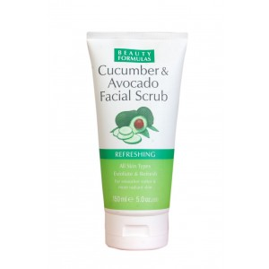 Buy Beauty Formulas Cucumber & Avocado Facial Scrub Refreshing - Nykaa
