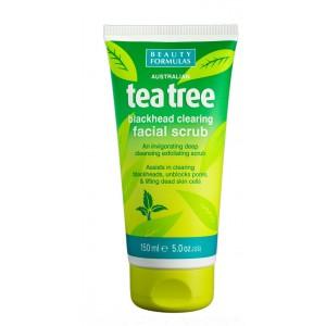 Buy Beauty Formulas Tea Tree Blackhead Clearing Facial Scrub - Nykaa
