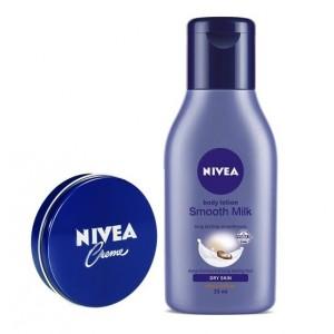 Buy Herbal Nivea Creme + Free Nivea Smooth Milk Body Lotion - Nykaa