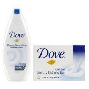 Buy Dove Deeply Nourishing Body Wash + Free Cream Beauty Bar - Nykaa