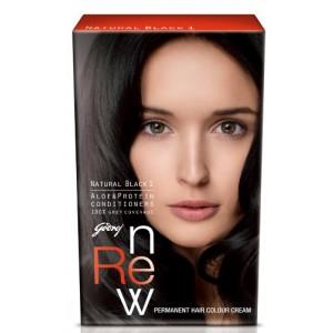 Buy Godrej Renew Crème Hair Colour - Natural Black (20 ml) - Nykaa