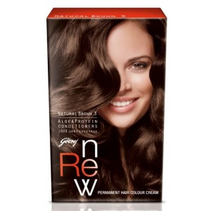 Buy Godrej Renew Crème Hair Colour - Natural Brown - Nykaa