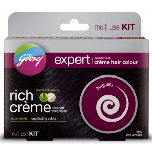Buy Godrej Expert Rich Crème Hair Colour Burgundy - Multi Use Kit - Nykaa