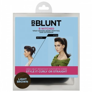 Buy BBLUNT B Witched, Wrap Around Short Pony Tail Hair Extension, Light Brown - Nykaa