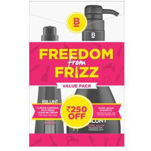 Buy BBLUNT Climate Control Leave In Cream + Born Again Shampoo For Stressed Hair Combi Pack Rs.250 Off - Nykaa