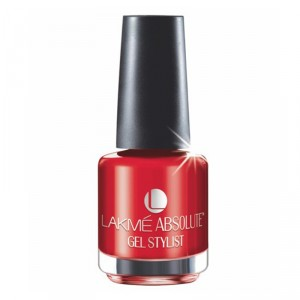 Buy Lakme Absolute Gel Stylist Nail Polish - Tomato Tango - Nykaa