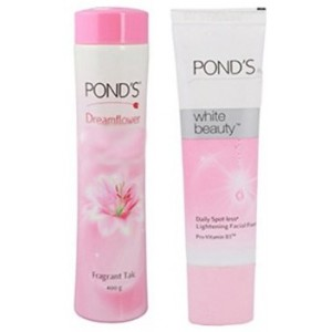 Buy Ponds Dreamflower Fragrant Talc  + Free Ponds White Beauty Facial Foam - Nykaa
