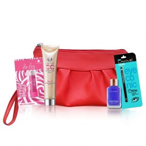 Buy Lakme (Eyeconic Kajal + CC Crème + Nail Remover + Lip Love) Makeup Essential Kit With Free Purse - Nykaa