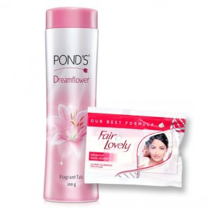Buy Ponds Dreamflower Talc + Free Fair & Lovely 2 Sachets - Nykaa