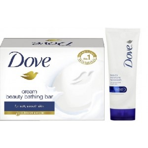 Buy Dove Beauty Moisture Face Wash + Free Dove Beauty Bathing Bar Soap - Nykaa