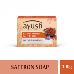 Buy Lever Ayush Natural Fairness Saffron Soap - Nykaa
