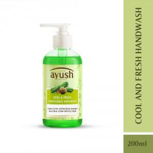 Buy Lever Ayush Cool Fresh Lemongrass Hand Wash - Nykaa
