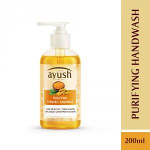 Buy Lever Ayush Purifying Turmeric Hand Wash - Nykaa