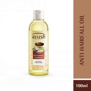 Buy Lever Ayush Anti Hairfall Sesame Hair Oil - Nykaa