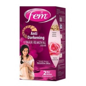 Buy Fem Anti Darkening Hair Removal Cream Rose Tube - Nykaa